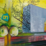 Shopping on the go, acrylic paint and pastel crayon on canvas, 130 x 85 cm, 2012